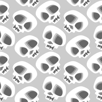Tête de crâne transparente motif halloween