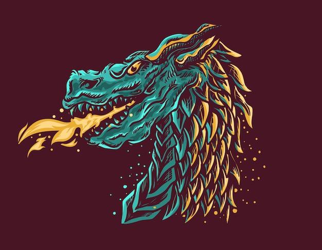 Tête de dragon bête