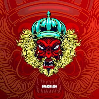 Tête de dragon de logo
