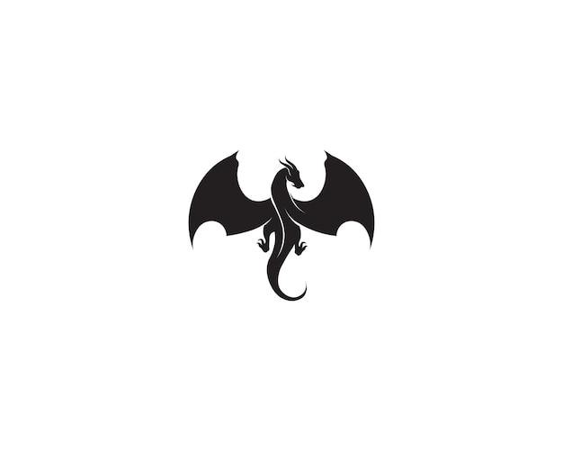 Tête dragon plat couleur logo modèle vector illustration