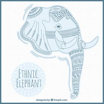 Tête d'éléphant ethnique