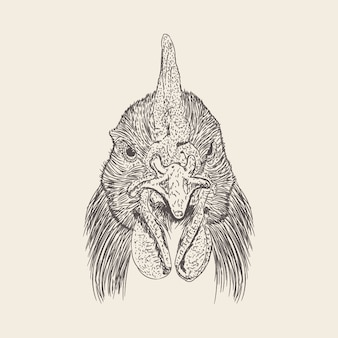 Tête de licorne illustration d'un dessin dessiné à la main