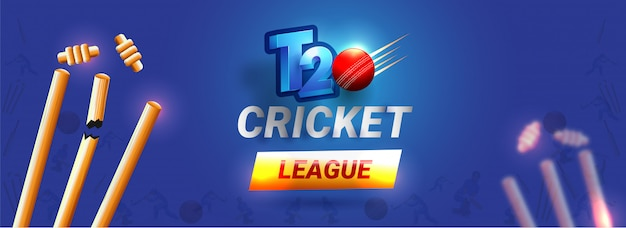 En-tête de la ligue de cricket t20