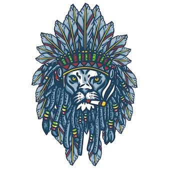 Tête de lion apache