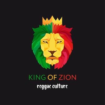 Tête de lion avec couronne