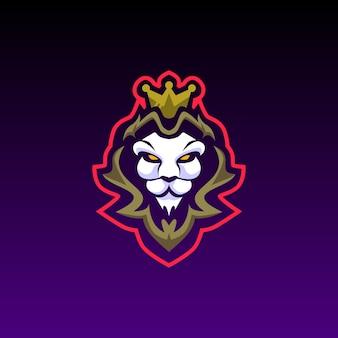 Tête de lion e mascotte de jeu logo sport