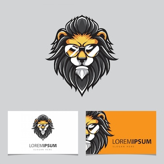 Tête de lion hipster