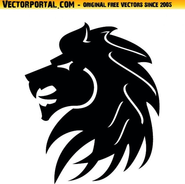 Tête de lion tribal vecteur icône de style