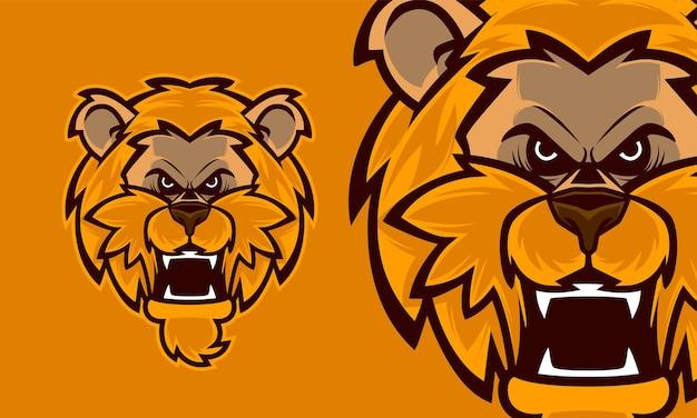 Tête de loup en colère premium logo mascotte vector illustration