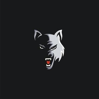 Tête de loup design ilustration