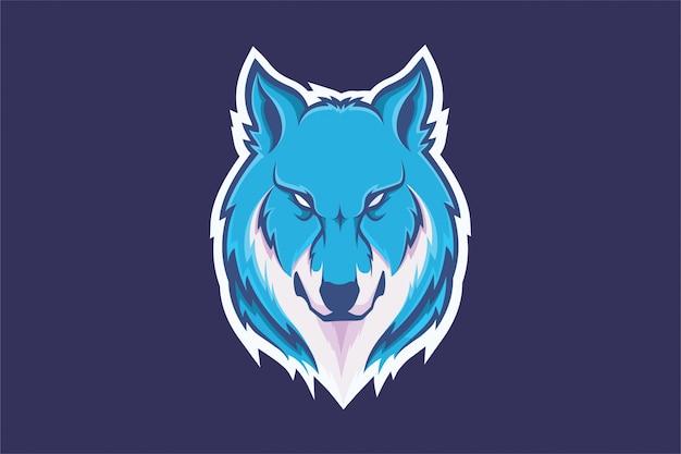 Tête de loup dessin à la main