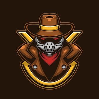 Tête de mafia avec concept de casque