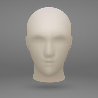Tête de mannequin 3d