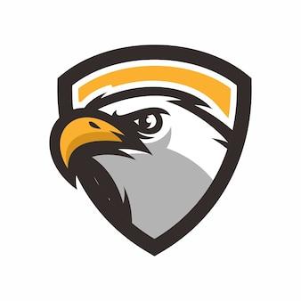 Tete de mascot oiseau eagle
