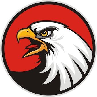Tête de mascotte d'un aigle