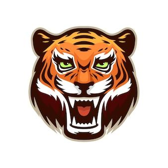 Tête de mascotte de tigre