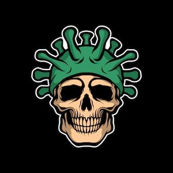 Tête de mort corona