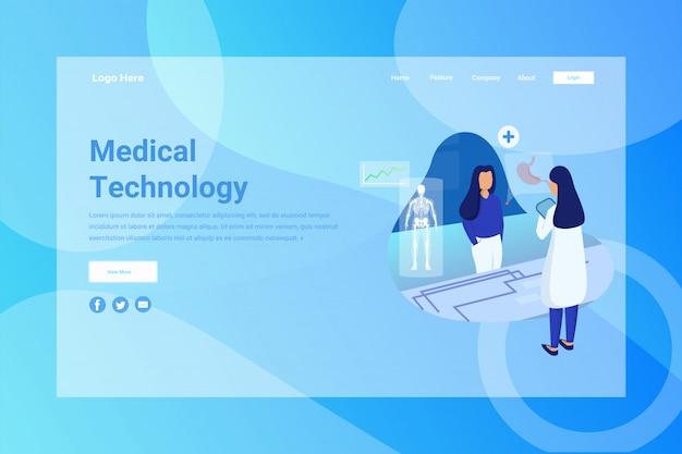 En-tête de page web page de conception de technologie médicale