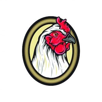 Tête poulet volaille ferme animal logo
