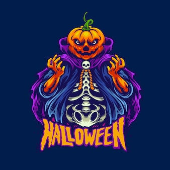 Tête de pumkin halloween