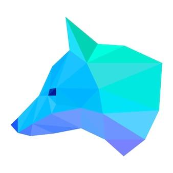 Tête de renard abstraite isolée sur blanc. renard peint dans des couleurs imaginaires pour une carte-cadeau d'anniversaire design, une invitation à une fête moderne, une bannière, un album, un t-shirt, un sac imprimé, un dépliant publicitaire d'atelier d'art, etc.