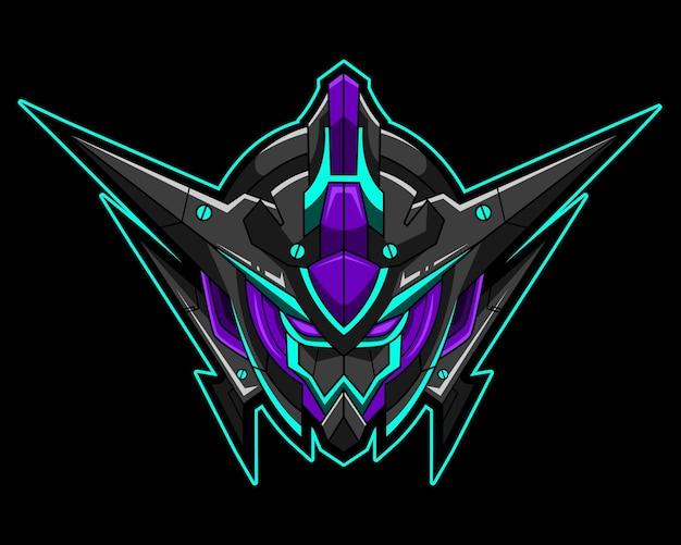 Tête robot esport logo équipe