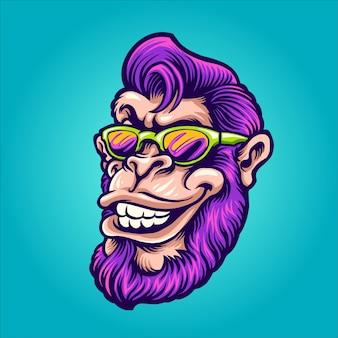 Tête de singe cool