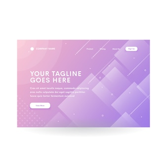 En-tête de site web moderne à dégradé de diamant violet