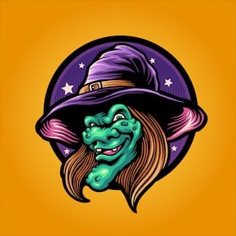 La tête de sorcière