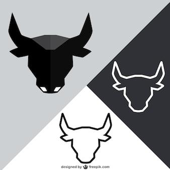 Tête de taureau polygonale