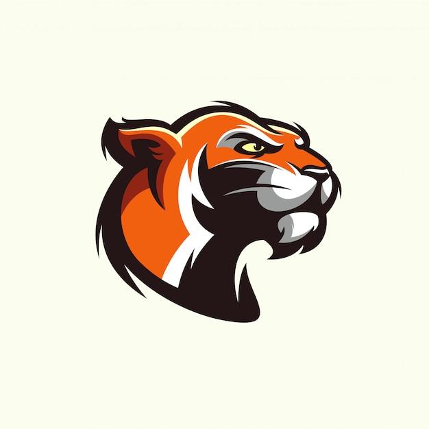 Tête de tigre dans un style détaillé - vecteur