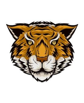 Tête de tigre illustration