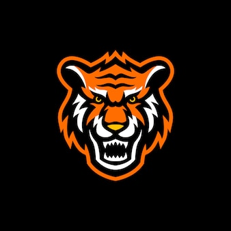 Tête de tigre logo mascotte esport gaming