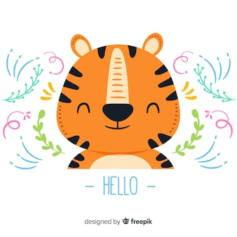 Tête de tigre plat