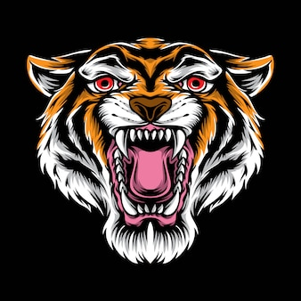 Tête de tigre vecteur