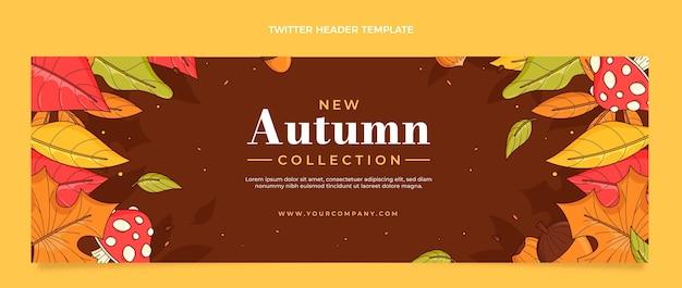 En-tête twitter automne dessiné à la main