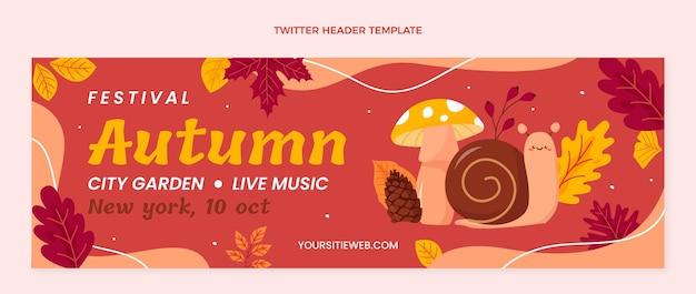 En-tête twitter d'automne