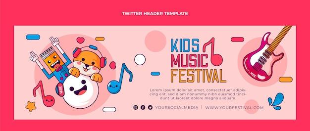 En-tête twitter du festival de musique dessiné à la main