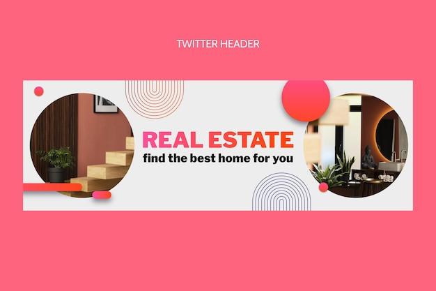 En-tête twitter immobilier dégradé