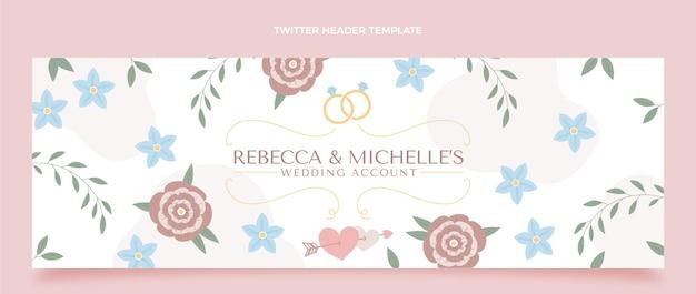 En-tête de twitter de mariage dessiné à la main