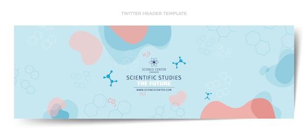 En-tête de twitter science design plat