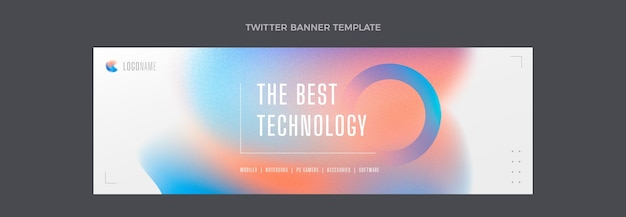 En-tête twitter de technologie de texture dégradée