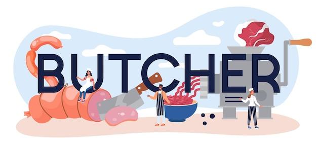 En-tête typographique de boucher