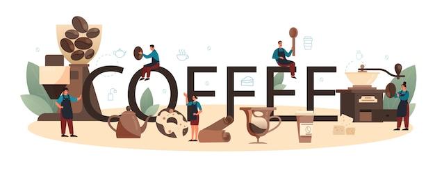 En-tête typographique de café.