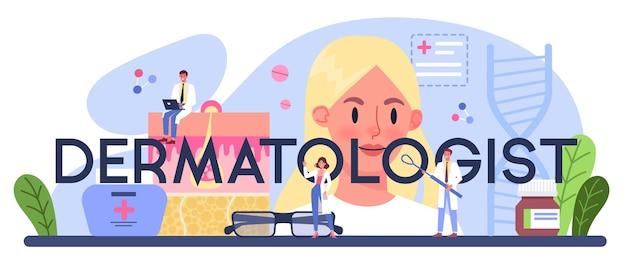 En-tête typographique dermatologue