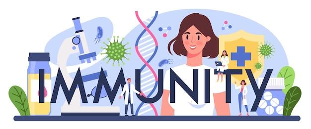 En-tête typographique d'immunité.