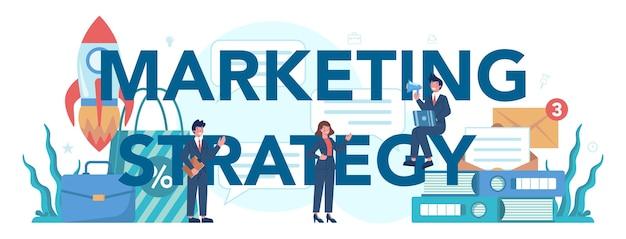 En-tête typographique de stratégie marketing