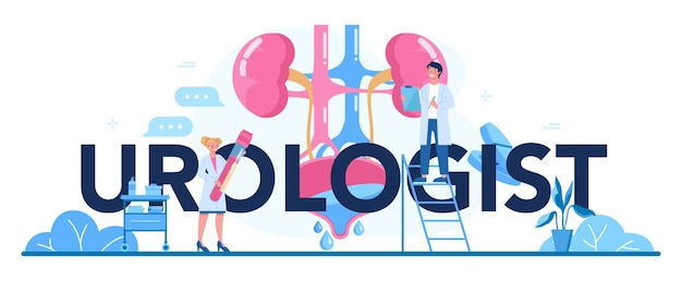 En-tête typographique urologue