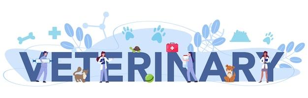 En-tête typographique vétérinaire pour animaux de compagnie