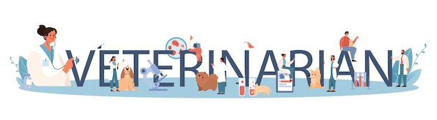 En-tête typographique vétérinaire